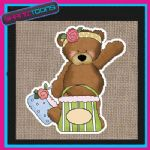 CUTE BEAR DESIGN JUTE  SHOPPING LADIES GIFT BAG 001